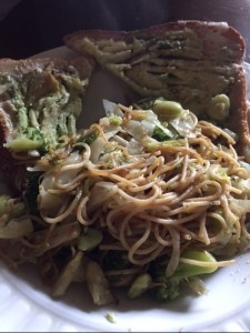 angel hair pasta with cabbage